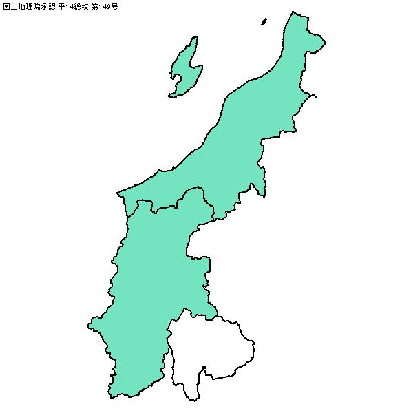 地図キーホルダー-甲信越地方-